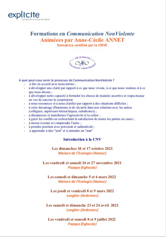 Programme CNV 2021 2022